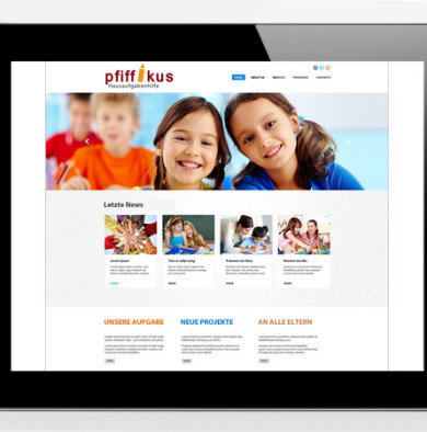 Eine neue Webseite für pfiffikus